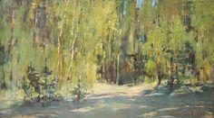 Лесные тени. 28х50см. х.м. 2010г.