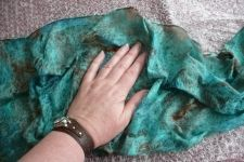 Nuno felt scarf tutorial - there are good tutorials on this site.