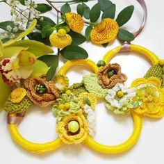 Yellow flower statement necklace with beads, spring jewelry, unique gift for women