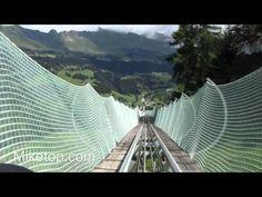 Meine coole Fahrt auf der längsten Rodelbahn der Welt! - Churwalden / Schweiz - YouTube