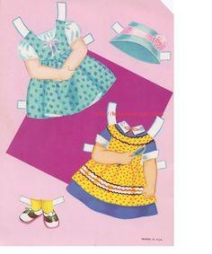 Susan Doll Cut-Outs: Complete Wardrobe, Lowe #1812 (3 of 6) | Naver Blog | 저번에 올린 아이와 같은아이입니다~ 다만 이번아이는 백인소녀에요 ~