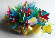 Ta Dot Boutique Funky Loopy Girls Hair Bow  by GirlsNCurls on Etsy, $11.00