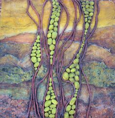 """Sonoran Sunset""  12x12 Mixed media on wood panel."