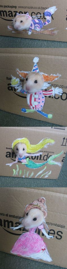 Easy DIY hamster costume for Halloween!
