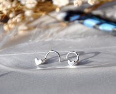 Silver Heart Nose Stud by TheStrayArrow on Etsy, $6.00 want