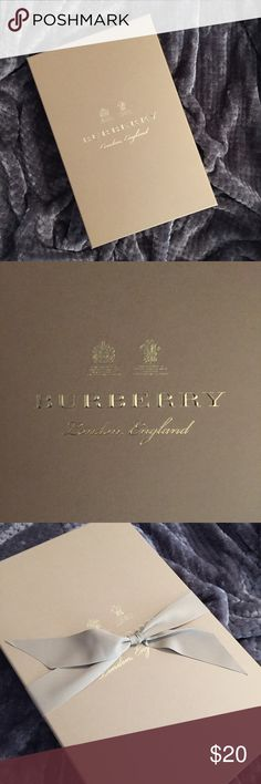 burberry gift packaging 100% authentic burberry gift packaging for a men's shirt i ordered. includes a box, tissue paper, trench coat bow, and an envelope. this includes what is listed it does NOT come with a burberry product. packaging ONLY. Burberry Other