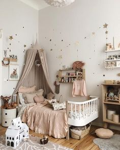 Image in Place collection by Ju. on We Heart It Baby Bedroom, Baby Room Decor, Nursery Room, Girls Bedroom, Girl Bedroom Designs, Kids Room Design, Little Girl Rooms, Nursery Inspiration, Whimsical Nursery