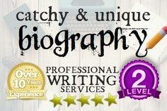 write a Catchy Biography or BIO by authoreva