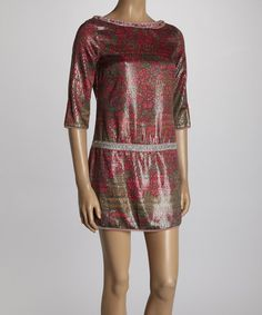 This Red Marla Alligator Dress by Custo Barcelona is perfect! #zulilyfinds