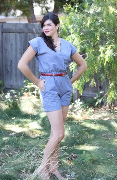 Playsuit by Salme Patterns by Small & Friendly for shorts on the line
