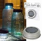 Use these lights outside or inside. A water-resistant solar cell, rechargeable battery, and bright LED are all nice and tidy, tucked inside a standard size mason jar lid. Great for (Solar Bottle Lights) Mason Jar Solar Lights, Mason Jar Lighting, Jar Lights, Bottle Lights, Mason Jar Projects, Mason Jar Crafts, Diy Projects, Solar Projects, Weekend Projects