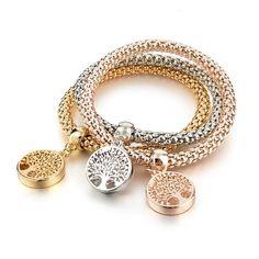 Tree of Life Charm Bracelet Set