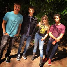 Peyton Meyer , Corey Fogelmanis , Sabrina Carpenter , And Cameron Boyce Omg . Cameron Boyce, Disney World Resorts, Walt Disney World, Girl Meets World Cast, Sabrina Carpenter Style, Corey Fogelmanis, Peyton Meyer, Orlando, Disney Cast