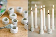 25 Wunderbare und einfache DIY-Ideen für Kerzen und Teelichter, womit du sofort loslegen kannst! - DIY Bastelideen