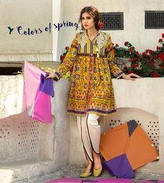Latest Summer Short Frock Fashion for Girls - Mode Für Alle Frock Fashion, Girl Fashion, Fashion Dresses, Kurta Designs, Pakistani Outfits, Indian Outfits, Stylish Dresses, Casual Dresses, Eastern Dresses