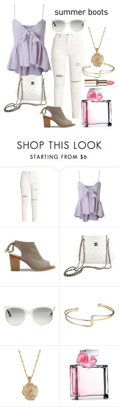 """""""Shake It"""" by justmehanan on Polyvore featuring TOMS, Chanel, Ray-Ban, 2028, Ralph Lauren, summerbooties and summer2017"""