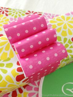 Scrappaper gift bow -  a thoughtful place