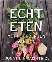 """Echt eten. """"Eerlijk""""eten uit eigen tuin en van de groentenboer en slager.Groenten is bij Jon hoofdgerecht vlees is garnituur"""