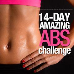 14 Day Amazing Abs Challenge - start tomorrow!  #amazingabs #flatbelly