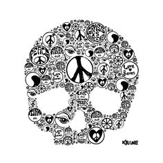 zor * Peace and skull Crane, Skull, Symbols, Sugar, Art, Art Background, Kunst, Performing Arts, Skulls