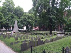 Granary Burial Ground, Boston, Mass...many of this country's founding fathers are buried here...Paul Revere, Ben Franklin, Samuel Adams...such history!