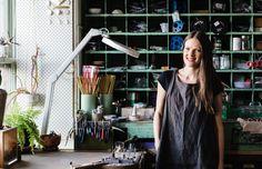 Abby Seymour in her studio