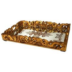 Reverse Etched Rococo Tray