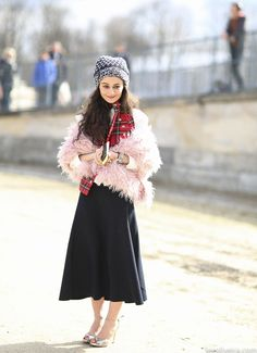 gorgeous little thang. #NataliaAlaverdian in Paris. #LeeOliveira