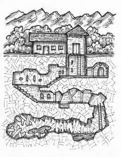 Putting your games on the map Fantasy Map Making, Fantasy World Map, Fantasy City, Fantasy Rpg, Isometric Map, Village Map, Rpg Map, Map Layout, Dungeon Maps
