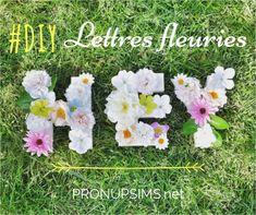 #DIY : des lettres fleuries pour ton mariage - Mariage Paris Normandie Givré