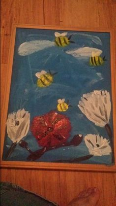 Bumble bee painting