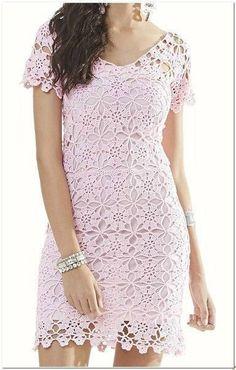 Fabulous Crochet a Little Black Crochet Dress Ideas. Georgeous Crochet a Little Black Crochet Dress Ideas. Crochet Bodycon Dresses, Crochet Summer Dresses, Short Summer Dresses, Crochet Blouse, Trendy Dresses, Knit Dress, Baby Dresses, Crochet Woman, Irish Lace