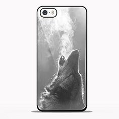 Wolf Blowing Smoke Design GNO for iPhone 5/5s Black case
