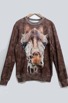 Unisex 3D Cute Giraffe Sweater