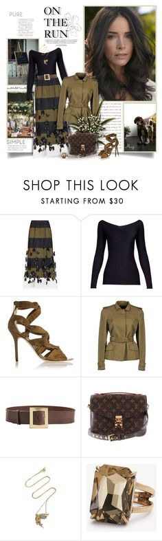 """On The Run"" by thewondersoffashion ❤ liked on Polyvore featuring Capelli New York, ESPRIT, Dries Van Noten, The Row, Jimmy Choo, Tom Ford, Roberto Cavalli, Louis Vuitton, Anna Sheffield and Ann Taylor"