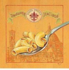 Art Print: Pasta Fresca Art Print by Stefania Ferri by Stefania Ferri : Vintage Food Labels, Vintage Recipes, Vintage Prints, Vintage Posters, Vintage Images, Tropical Art, Kitchen Art, Chef Kitchen, Cool Posters