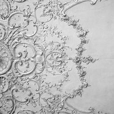 plaster work on a ceiling