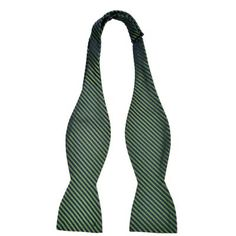 $29, Green Horizontal Striped Bow-tie: Notch Silk Untied Bow Tie Malik Striped Pattern In Green And Navy Blue. Sold by Tieroom. Click for more info: https://lookastic.com/men/shop_items/83314/redirect