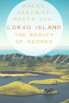 You can't miss the natural beauty of the smallest Azores Island: Corvo. Crater Lake, Azores, Travel Pictures, Serenity, Islands, Natural Beauty, Paradise, How To Plan, World