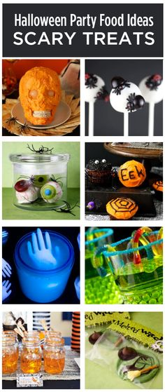 10 Halloween Scary Recipe Ideas - Spooktacular Party Treats! #halloween Since it's almost halloween, I'm going to be pinning a lot of halloween things. Be prepared! Follow the board 'Holidays' to get all of my halloween pins