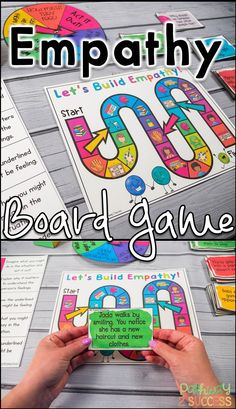 Use this game to teach kids and young adults empathy and perspective-taking skills. Kids will follow the game board as they answer questions about social situations including how someone might feel, what someone might think, why it's important to consider feelings, acting it out, and more!
