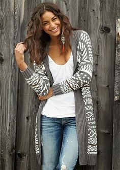 Fall Outfit With Cardigan and Boyfriend Jeans
