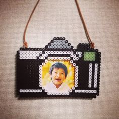 Camera photo frame perler beads by ringo_0122