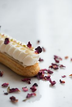 Strawberry Rose Eclair