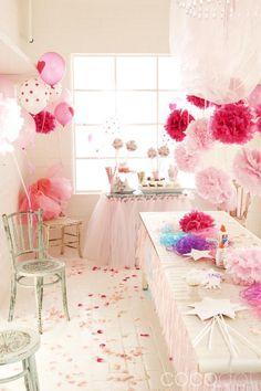 #party decoration #paper flower #ペーパーポンポン