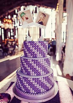 Tortas de 15 años color lila   Glam15