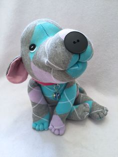 Original Sock Dog Firefly Stuffed Animal Dog by originalsockdogs