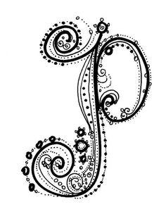 Fancy Alphabet Letter P Greeting Card Fancy Letters, Diy Letters, Letters And Numbers, Bubble Letters, Pocket Letters, Tatoo Letter, Letter Art, Letter Writing, Fancy P