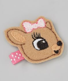 Take a look at this Pink Reindeer Felt Clip on zulily today!