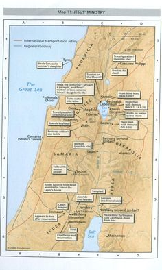 Map of Jesus' ministry
